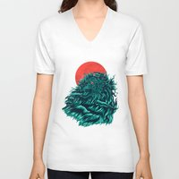 wave V-neck T-shirts featuring wave by itssummer85