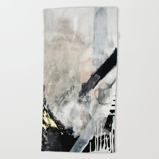 Saponification Abstraction Beach Towel