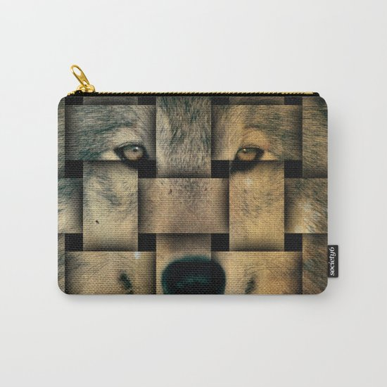 Woven Wolf Carry-All Pouch