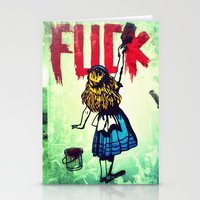 writing Stationery Cards featuring Writing Fuck by Mauricio Santana