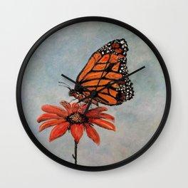 Majestic Monarch Butterfly Wall Clock