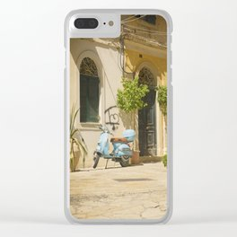 Corfu Street Scooter Clear iPhone Case