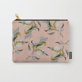 Lemons in Peach Carry-All Pouch