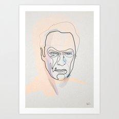 One line Clint Eastwood Art Print