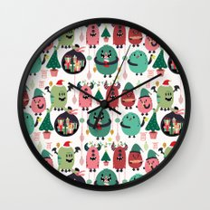 Monster xmas Wall Clock