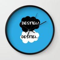 destiel Wall Clocks featuring Destiel - TFIOS by downeymore