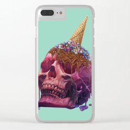Skull Sherbet Clear iPhone Case