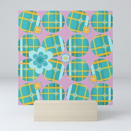 Poppy Seed Plaid Mini Art Print