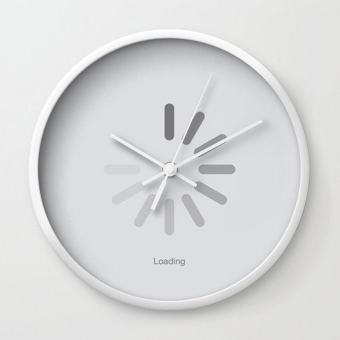 Anticipation - Grey Wall Clock