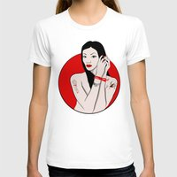 asia T-shirts featuring girl asia by Egudin