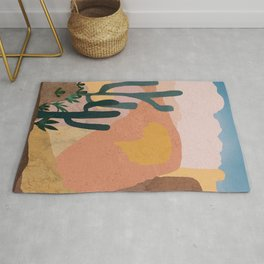 Utah Desert Abstract Collage Rug