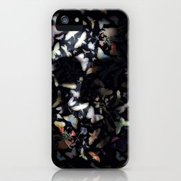 Butterfly And Skull iPhone Case