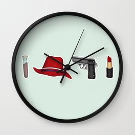 Peggy Carter Items Wall Clock