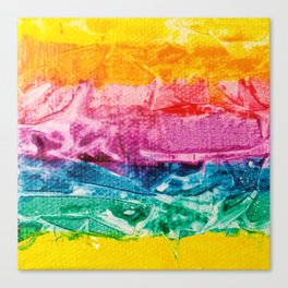 Rainbow Abstract #12 Canvas Print