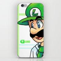 luigi iPhone & iPod Skins featuring Dr. Luigi by Kirafrog