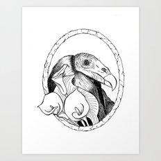Mr. Vulture Art Print