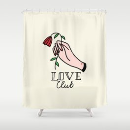 Love Club, Rose and hand Shower Curtain