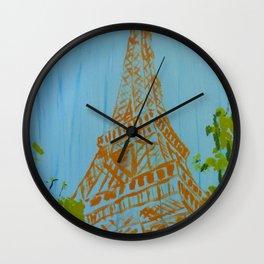 La Tour Eiffel in the Spring Wall Clock
