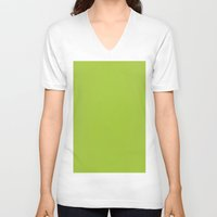 android V-neck T-shirts featuring Android Green by List of colors