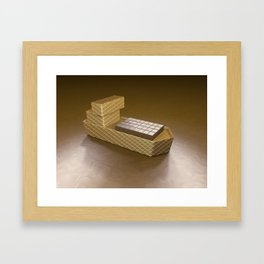 Chocolate Ship - 3D Art Framed Art Print