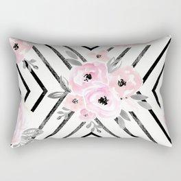 Blush Roses Mod Rectangular Pillow