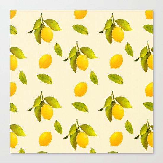 Lemon Pattern Canvas Print