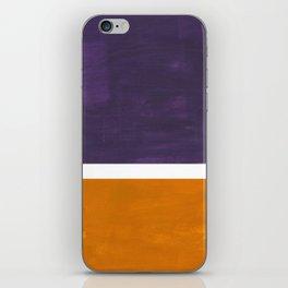 Purple Yellow Ochre Rothko Minimalist Mid Century Abstract Color Field Squares iPhone Skin