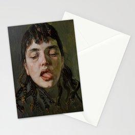 GORGON'S HEAD - WILHELM TRUEBNER Stationery Cards
