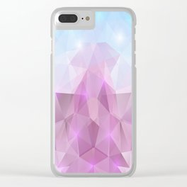 Abstract polygonal background Clear iPhone Case