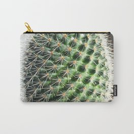 closeup green cactus texture with morning sunlight Carry-All Pouch