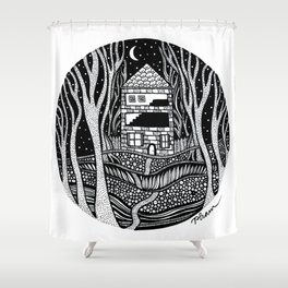 ONE FALL NIGHT Shower Curtain
