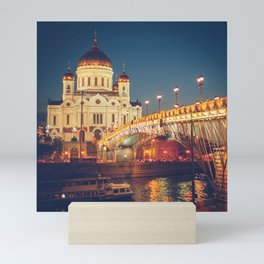 Cathedral of Christ the Savior in Moscow, Russia Mini Art Print