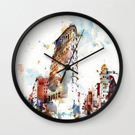 FlatIron Building, New York City Wall Clock