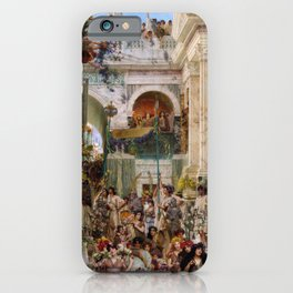 Lawrence Alma-Tadema - Spring - Digital Remastered Edition iPhone Case