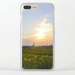 Blooming in yellow ## Clear iPhone Case