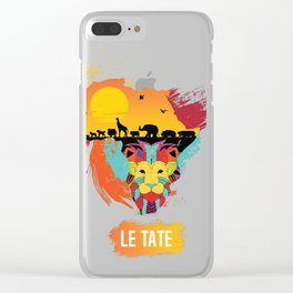 LION KING OF THE JUNGLE Clear iPhone Case