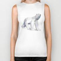 polar bear Biker Tanks featuring Polar bear by Marta Olga Klara