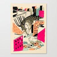 giants Canvas Prints featuring GIANTS! Deer by Pietari Posti