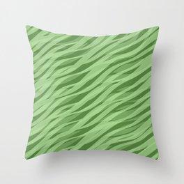 stripewaves. sage Throw Pillow