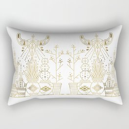 Santa Fe Garden – Gold Ink Rectangular Pillow