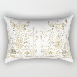 Santa Fe Garden – Gold Ink Rectangular Pillow