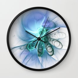 white Loops Wall Clock