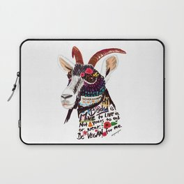 Go vegan goat - my body is mine to live in Laptop Sleeve