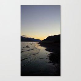 (#122) Waves at Dusk Canvas Print