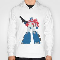 optimus prime Hoodies featuring Transformers G1 - Optimus Prime by TracingHorses