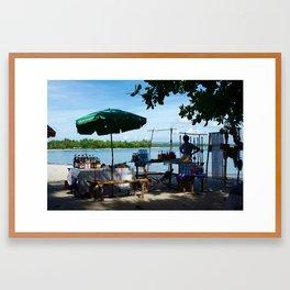 Malagasy Beach Market Framed Art Print