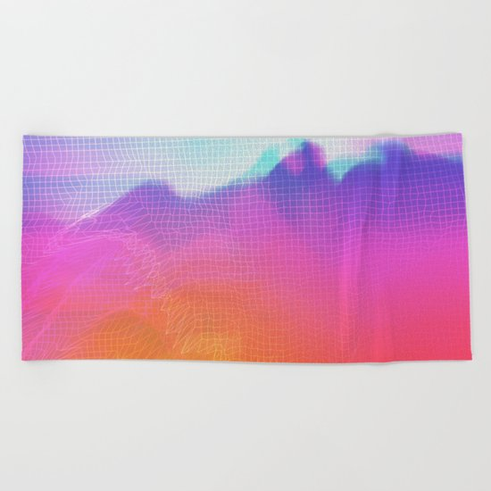 Glitch 04 Beach Towel