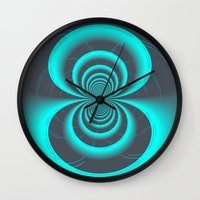inception Wall Clocks featuring Inception by Angela Pesic