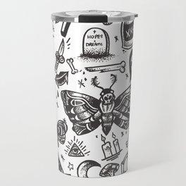 Spooky Flash Sheet - Black Travel Mug