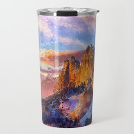 Colorado Mountains - Digital Painting III Travel Mug